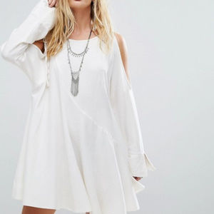 Free People Clear Skies White Tunic Dress.Small
